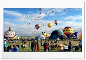Hot Air Balloons Festival Image HD Wide Wallpaper for Widescreen