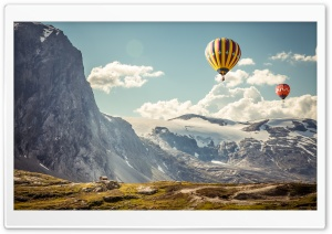 Hot Air Balloons in the Air HD Wide Wallpaper for Widescreen