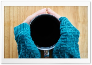 Hot Black Coffee HD Wide Wallpaper for Widescreen