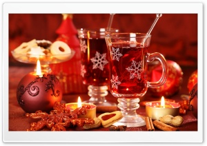 Hot Christmas Tea HD Wide Wallpaper for Widescreen