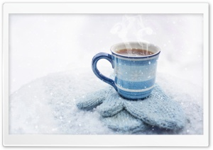 Hot Coffee, Winter HD Wide Wallpaper for Widescreen