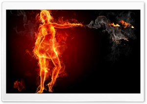 Hot Girl On Fire HD Wide Wallpaper for Widescreen
