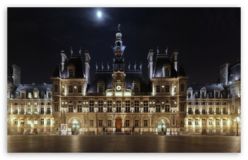 Hotel de Ville At Night, Paris, France ❤ 4K UHD Wallpaper for Wide 16:10 5:3 Widescreen WHXGA WQXGA WUXGA WXGA WGA ; 4K UHD 16:9 Ultra High Definition 2160p 1440p 1080p 900p 720p ; Mobile 5:3 16:9 - WGA 2160p 1440p 1080p 900p 720p ;