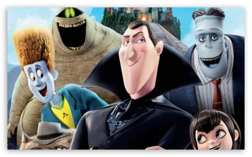 Hotel Transylvania HD wallpaper for Wide 5:3 Widescreen WGA ; HD 16:9 High Definition WQHD QWXGA 1080p 900p 720p QHD nHD ; Mobile WVGA PSP - WVGA WQVGA Smartphone ( HTC Samsung Sony Ericsson LG Vertu MIO ) Sony PSP Zune HD Zen ;
