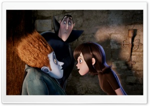 Hotel Transylvania - Johnnystein and Mavis with Dracula HD Wide Wallpaper for Widescreen