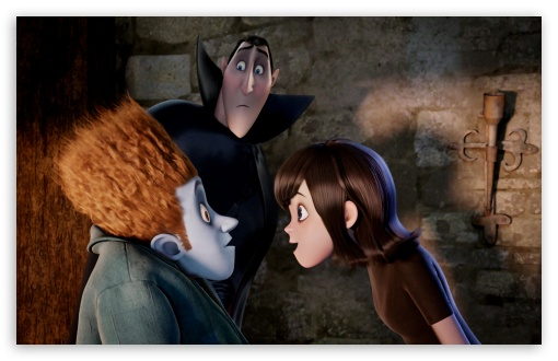 Hotel Transylvania - Johnnystein and Mavis with Dracula HD wallpaper for Wide 16:10 5:3 Widescreen WHXGA WQXGA WUXGA WXGA WGA ; HD 16:9 High Definition WQHD QWXGA 1080p 900p 720p QHD nHD ; Standard 4:3 5:4 3:2 Fullscreen UXGA XGA SVGA QSXGA SXGA DVGA HVGA HQVGA devices ( Apple PowerBook G4 iPhone 4 3G 3GS iPod Touch ) ; iPad 1/2/Mini ; Mobile 4:3 5:3 3:2 16:9 5:4 - UXGA XGA SVGA WGA DVGA HVGA HQVGA devices ( Apple PowerBook G4 iPhone 4 3G 3GS iPod Touch ) WQHD QWXGA 1080p 900p 720p QHD nHD QSXGA SXGA ;