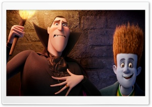 Hotel Transylvania   Dracula and Johnnystein HD Wide Wallpaper for Widescreen