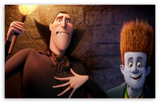Hotel Transylvania   Dracula and Johnnystein HD wallpaper for Wide 16:10 5:3 Widescreen WHXGA WQXGA WUXGA WXGA WGA ; HD 16:9 High Definition WQHD QWXGA 1080p 900p 720p QHD nHD ; Mobile 5:3 16:9 - WGA WQHD QWXGA 1080p 900p 720p QHD nHD ;