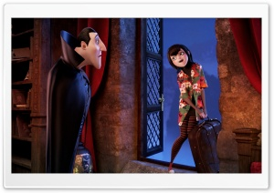 Hotel Transylvania   Dracula with his daughter Mavis HD Wide Wallpaper for Widescreen