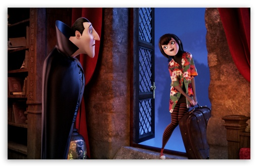 Hotel Transylvania   Dracula with his daughter Mavis HD wallpaper for Wide 16:10 5:3 Widescreen WHXGA WQXGA WUXGA WXGA WGA ; HD 16:9 High Definition WQHD QWXGA 1080p 900p 720p QHD nHD ; Standard 4:3 5:4 3:2 Fullscreen UXGA XGA SVGA QSXGA SXGA DVGA HVGA HQVGA devices ( Apple PowerBook G4 iPhone 4 3G 3GS iPod Touch ) ; Tablet 1:1 ; iPad 1/2/Mini ; Mobile 4:3 5:3 3:2 16:9 5:4 - UXGA XGA SVGA WGA DVGA HVGA HQVGA devices ( Apple PowerBook G4 iPhone 4 3G 3GS iPod Touch ) WQHD QWXGA 1080p 900p 720p QHD nHD QSXGA SXGA ;