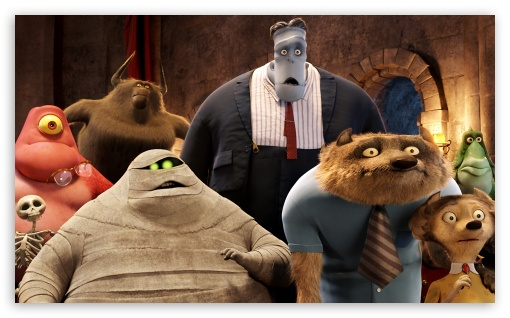 Hotel Transylvania Guests HD wallpaper for Wide 5:3 Widescreen WGA ; HD 16:9 High Definition WQHD QWXGA 1080p 900p 720p QHD nHD ; Mobile 5:3 16:9 - WGA WQHD QWXGA 1080p 900p 720p QHD nHD ;