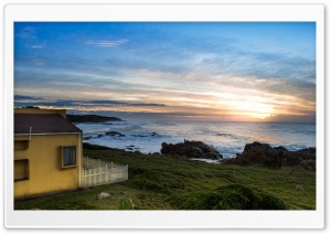 House By The Sea Side Ultra HD Wallpaper for 4K UHD Widescreen desktop, tablet & smartphone