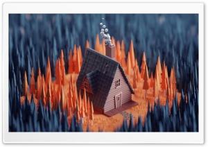 House, Forest 3D Ultra HD Wallpaper for 4K UHD Widescreen desktop, tablet & smartphone