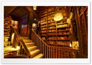 House On The Rock Library HD Wide Wallpaper for 4K UHD Widescreen desktop & smartphone