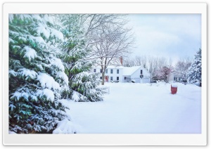 House, Snow, Winter Holiday HD Wide Wallpaper for Widescreen