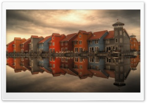 Houses by the Lake HD Wide Wallpaper for Widescreen