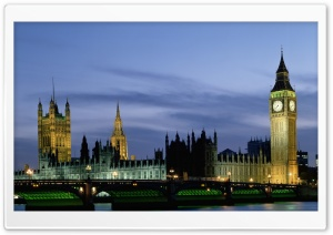 Houses Of Parliament And Big Ben, London, UK, Europe HD Wide Wallpaper for 4K UHD Widescreen desktop & smartphone