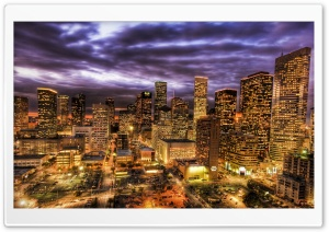 Houston At Night HD Wide Wallpaper for 4K UHD Widescreen desktop & smartphone