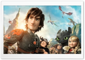 How to Train Your Dragon 2 Characters Ultra HD Wallpaper for 4K UHD Widescreen desktop, tablet & smartphone