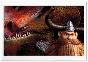 How To Train Your Dragon 2 Stoick and dragon Skullcrusher HD Wide Wallpaper for 4K UHD Widescreen desktop & smartphone