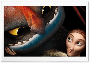 How To Train Your Dragon 2 Valka and dragon Cloudjumper HD Wide Wallpaper for 4K UHD Widescreen desktop & smartphone
