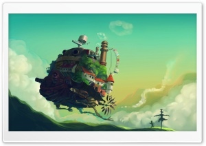 Howl's Moving Castle HD Wide Wallpaper for Widescreen