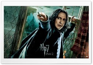 HP7 Part 2 Snape HD Wide Wallpaper for Widescreen