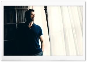 Hugh Jackman In Polo Shirt HD Wide Wallpaper for Widescreen