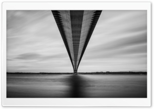 Humber Bridge Black and White Ultra HD Wallpaper for 4K UHD Widescreen desktop, tablet & smartphone