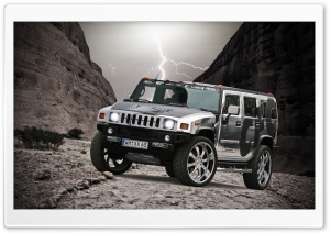 Hummer H2 Chrome HD Wide Wallpaper for 4K UHD Widescreen desktop & smartphone