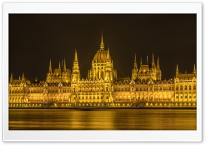 Hungarian Parliament Building, Budapest, Hungary Ultra HD Wallpaper for 4K UHD Widescreen desktop, tablet & smartphone
