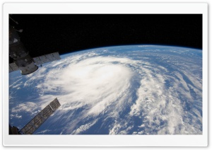 Hurricane From Space View HD Wide Wallpaper for 4K UHD Widescreen desktop & smartphone