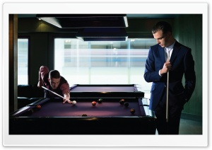 Hurts Playing Billiards HD Wide Wallpaper for Widescreen