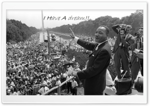 I Have A Dream - Martin Luther King Jr. HD Wide Wallpaper for 4K UHD Widescreen desktop & smartphone