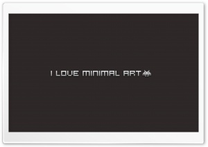 I Love Minimal Art HD Wide Wallpaper for 4K UHD Widescreen desktop & smartphone