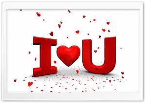 I Love U HD Wide Wallpaper for Widescreen