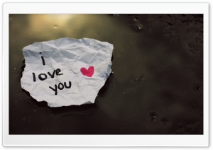 I love you Message HD Wide Wallpaper for Widescreen
