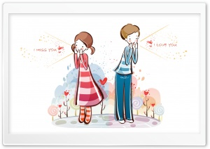 I Love You, Valentine's Day Illustration HD Wide Wallpaper for Widescreen