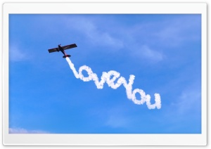 I Love You Written In The Sky HD Wide Wallpaper for 4K UHD Widescreen desktop & smartphone