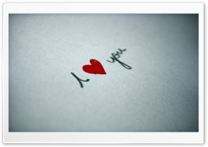 I Love You Written On Paper HD Wide Wallpaper for Widescreen