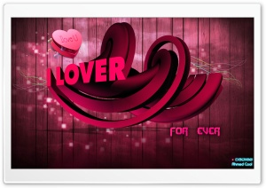 I lover 3D HD Wide Wallpaper for Widescreen