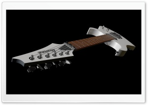 Ibanez Electric Guitar Neck Headstock White Color HD Wide Wallpaper for 4K UHD Widescreen desktop & smartphone