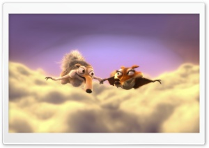 Ice Age 3 Dawn of the Dinosaurs - Scrat and Scratte HD Wide Wallpaper for Widescreen