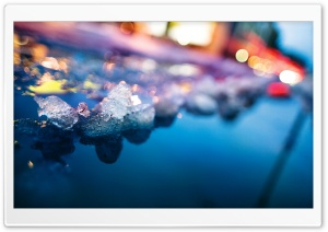 Ice And Colorful Lights HD Wide Wallpaper for Widescreen