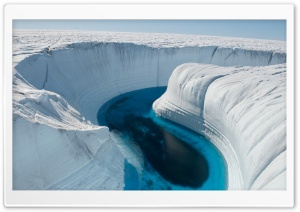 Ice Canyon - Greenland HD Wide Wallpaper for Widescreen