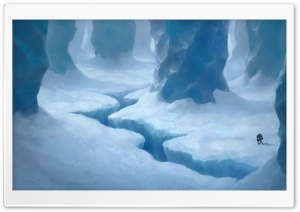Ice Cave Painting HD Wide Wallpaper for Widescreen