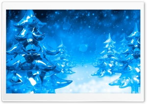 Ice Christmas Trees HD Wide Wallpaper for Widescreen