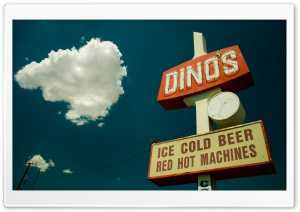 Ice Cold Beer Sign HD Wide Wallpaper for Widescreen