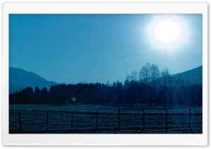 Ice Cold Morning Sun Rise HD Wide Wallpaper for Widescreen