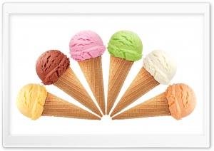 Ice Cream All Flavors Ultra HD Wallpaper for 4K UHD Widescreen desktop, tablet & smartphone